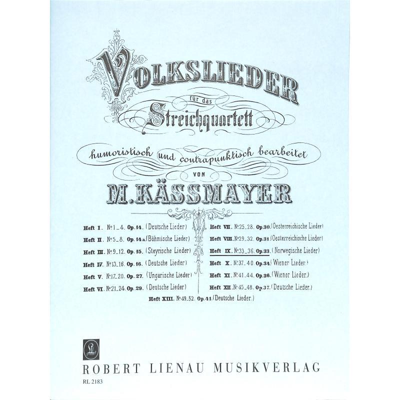 Titelbild für RL 21830 - VOLKSLIEDER BD 9 - NORWEGISCHE