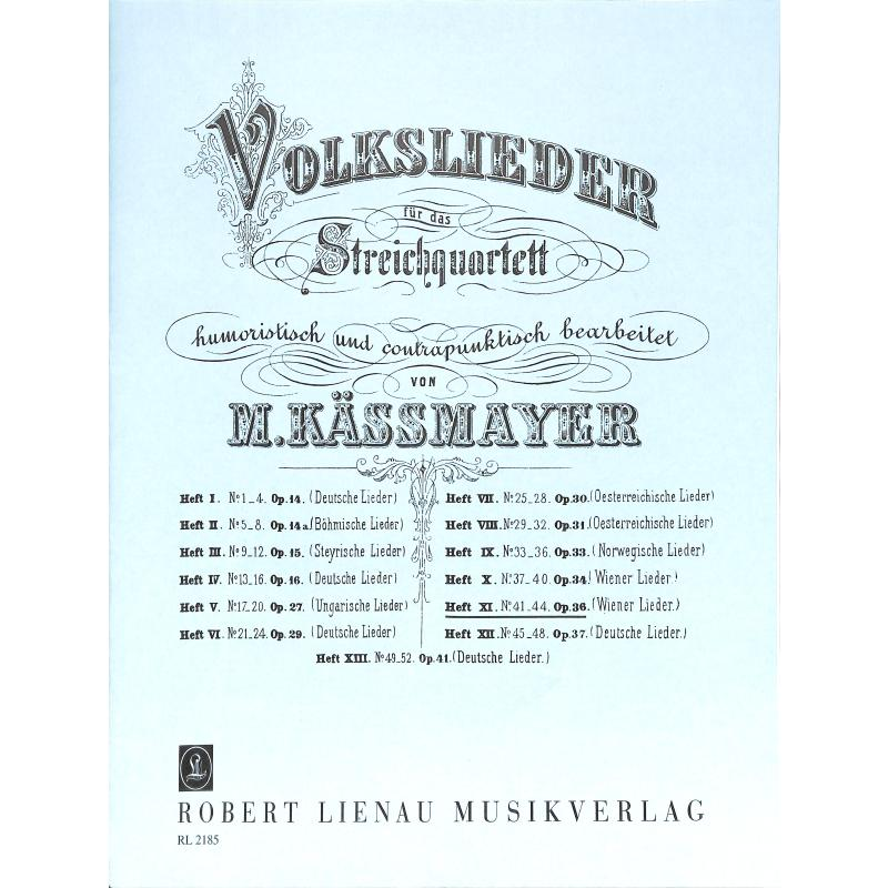 Titelbild für RL 21850 - VOLKSLIEDER BD 11 - WIENER LIED