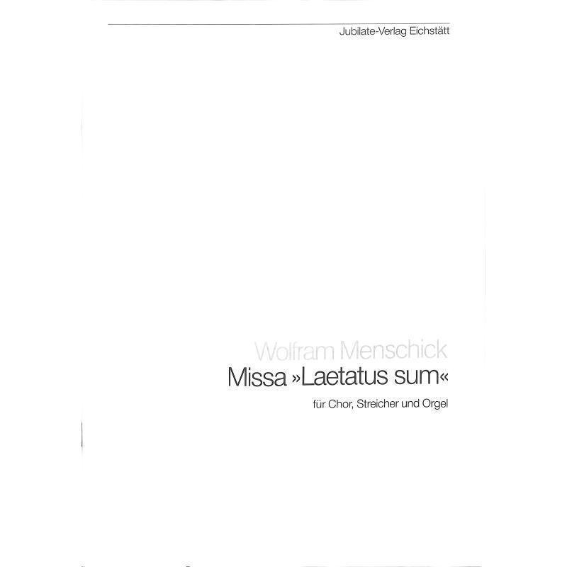 Titelbild für RM 323-P - MISSA LAETATUS SUM