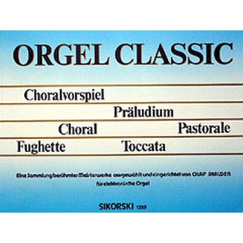 Titelbild für SIK 1259 - ORGEL CLASSIC