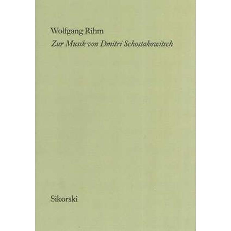 Titelbild für SIK 1501 - ZUR MUSIK VON SCHOSTAKOWITSCH