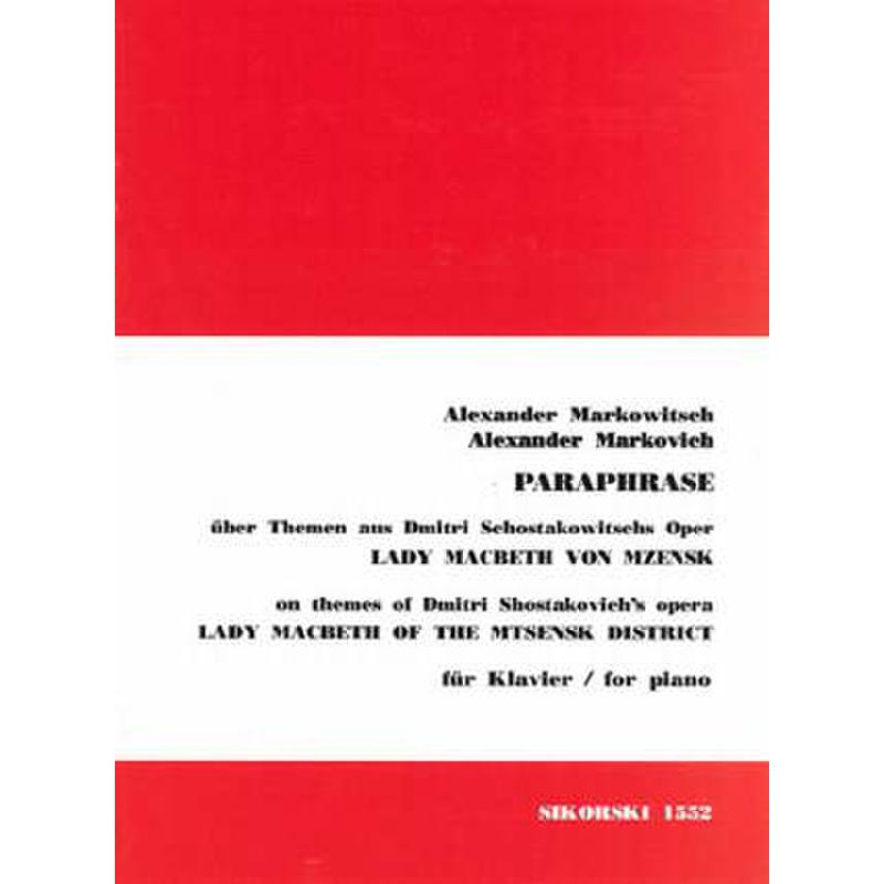 Titelbild für SIK 1552 - PARAPHRASE UEBER LADY MACBETH V