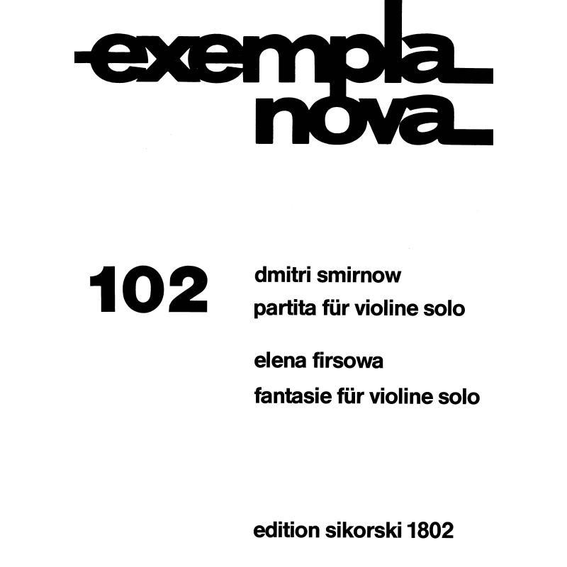 Titelbild für SIK 1802 - PARTITA