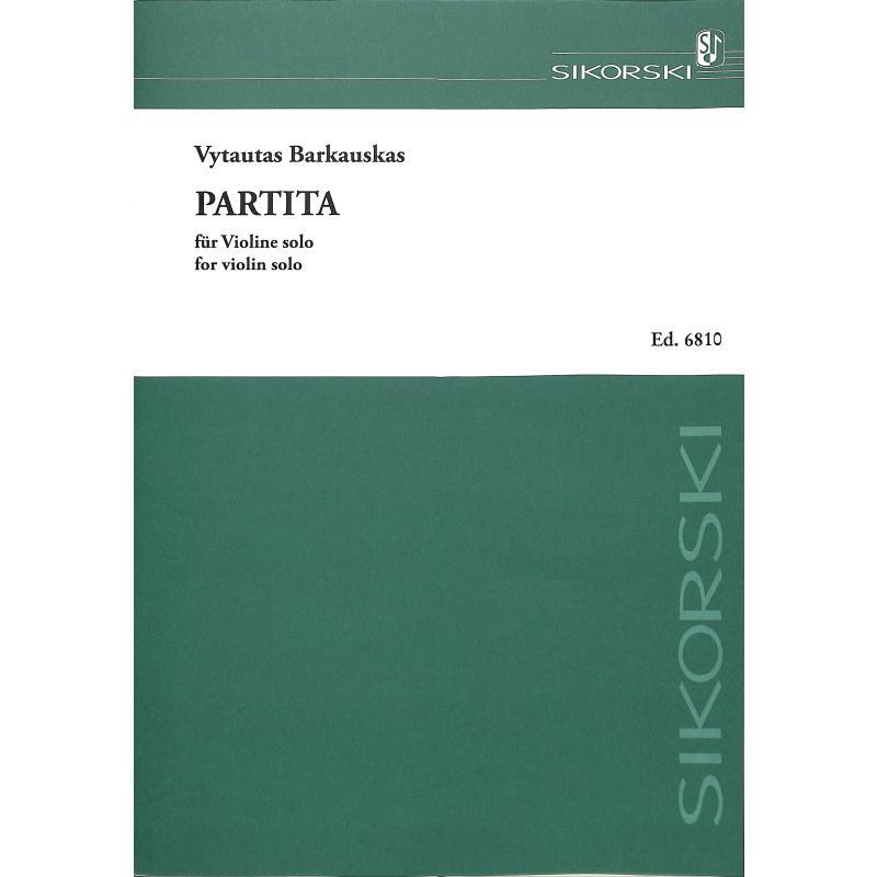 Titelbild für SIK 6810 - PARTITA