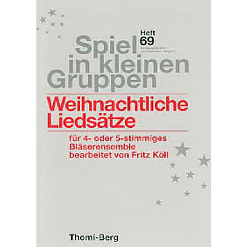 Titelbild für SKG 69a - WEIHNACHTLICHE LIEDSAETZE