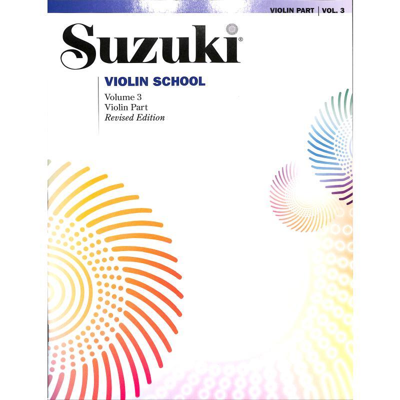 Titelbild für SBM 0148S - Violin school 3 - revised edition