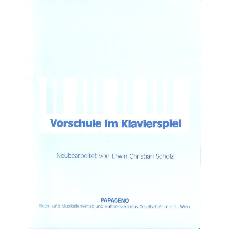 Titelbild für SV 752 - VORSCHULE IM KLAVIERSPIEL
