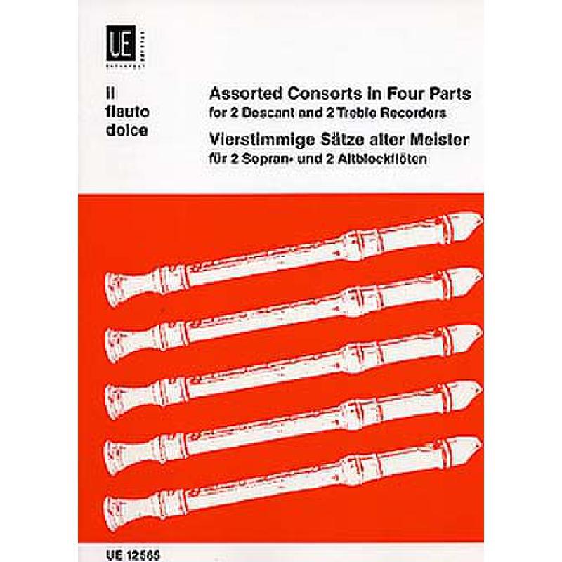 Titelbild für UE 12565 - VIERSTIMMIGE SAETZE ALTER MEISTER