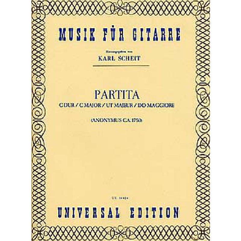 Titelbild für UE 14424 - PARTITA C-DUR