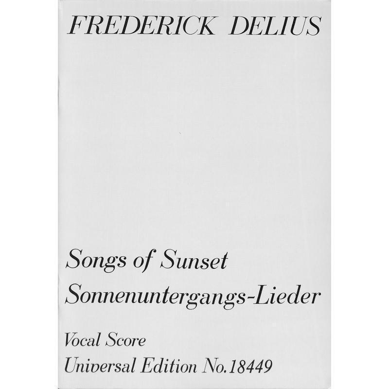 Titelbild für UE 18449 - SONGS OF SUNSET