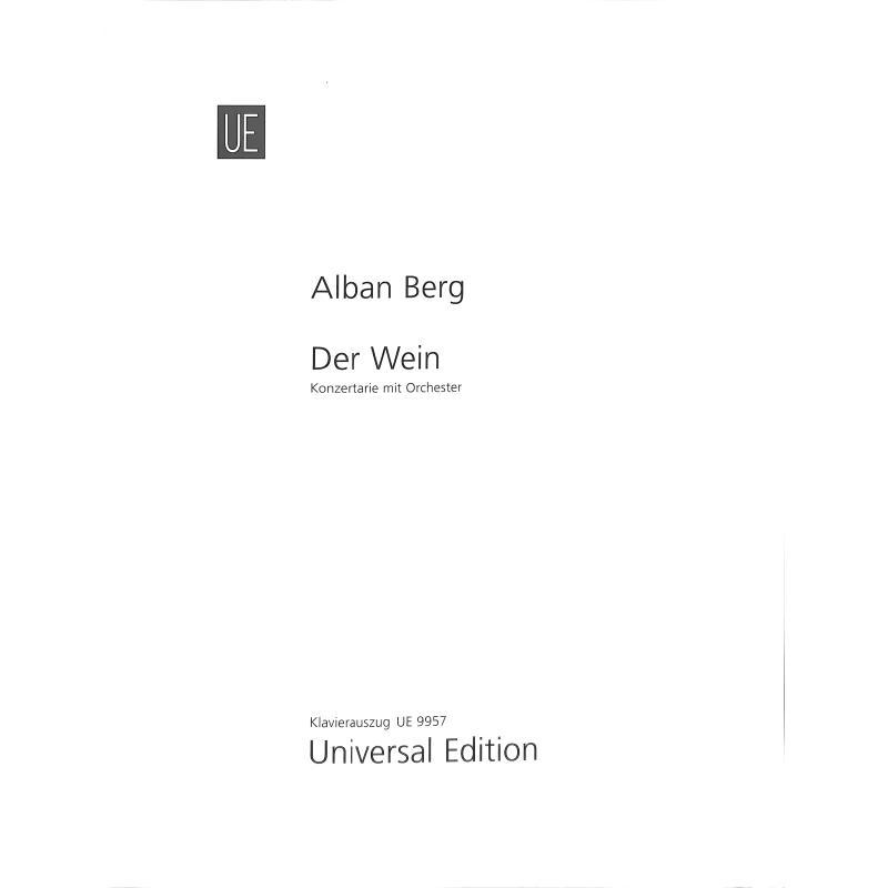 Titelbild für UE 9957 - LE VIN - DER WEIN