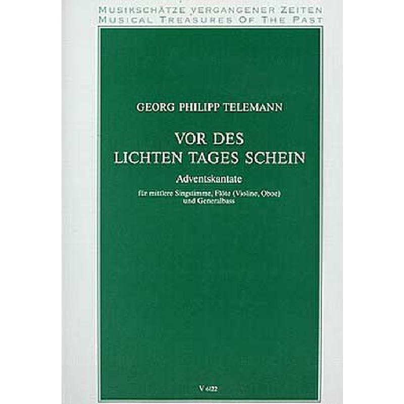 Titelbild für V 6122 - VOR DES LICHTEN TAGES SCHEIN