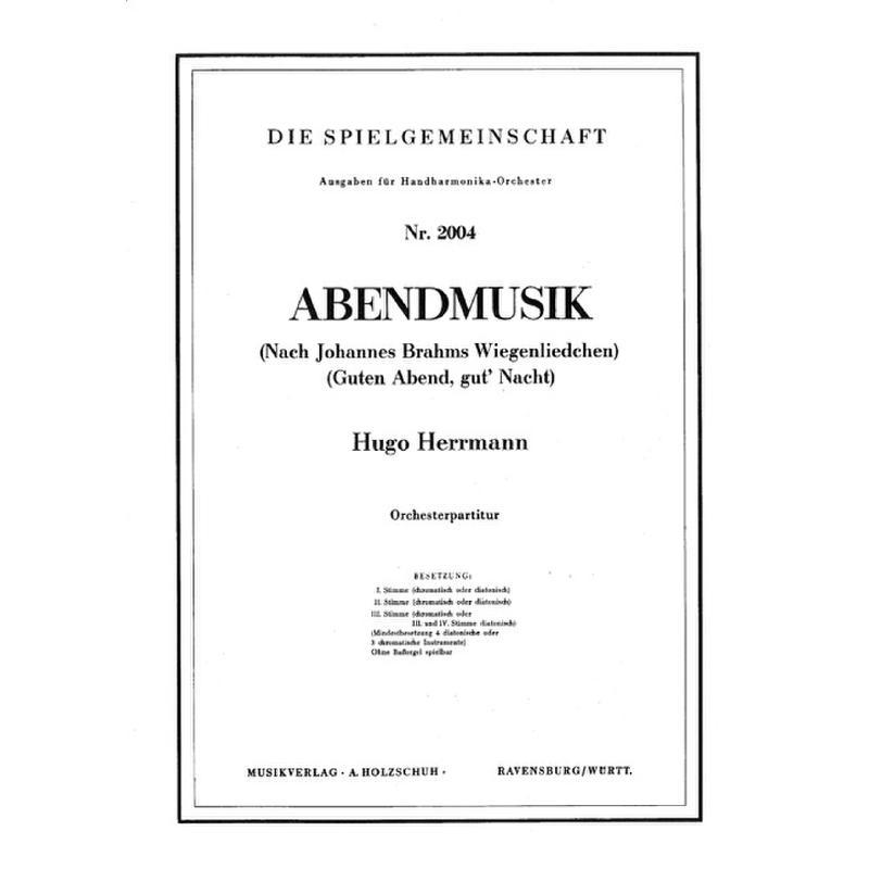 Titelbild für VHR 2004-00 - ABENDMUSIK