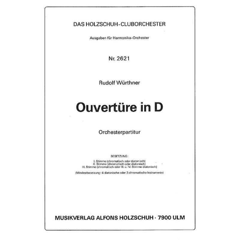 Titelbild für VHR 2621-00 - OUVERTUERE IN D