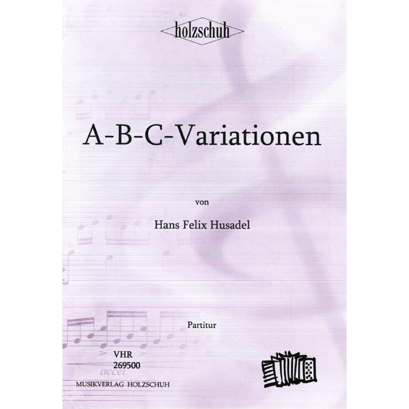 Titelbild für VHR 2695-00 - ABC VARIATIONEN