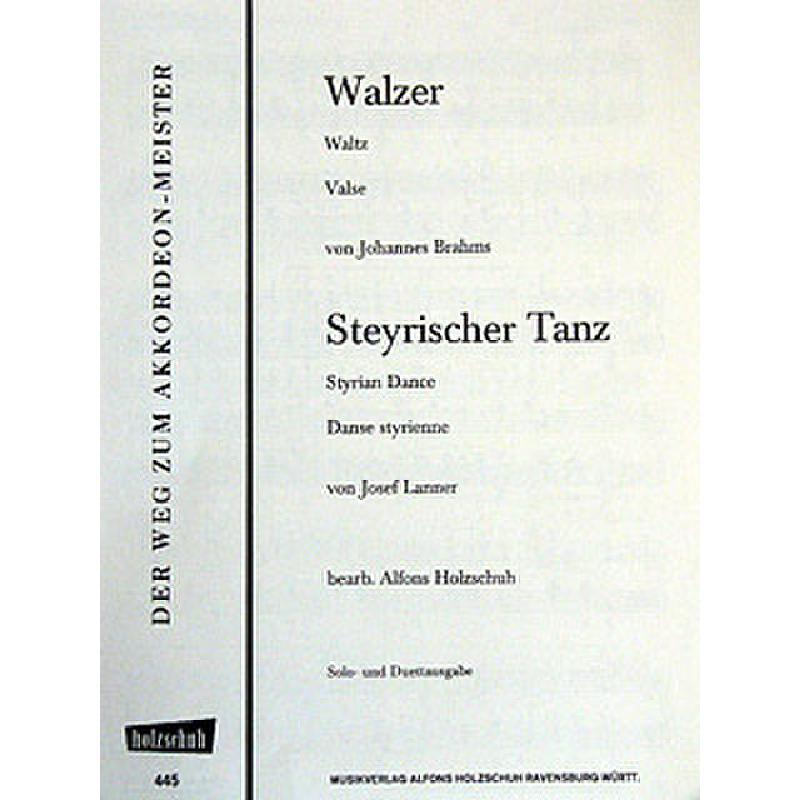 Titelbild für VHR 445A - WALZER
