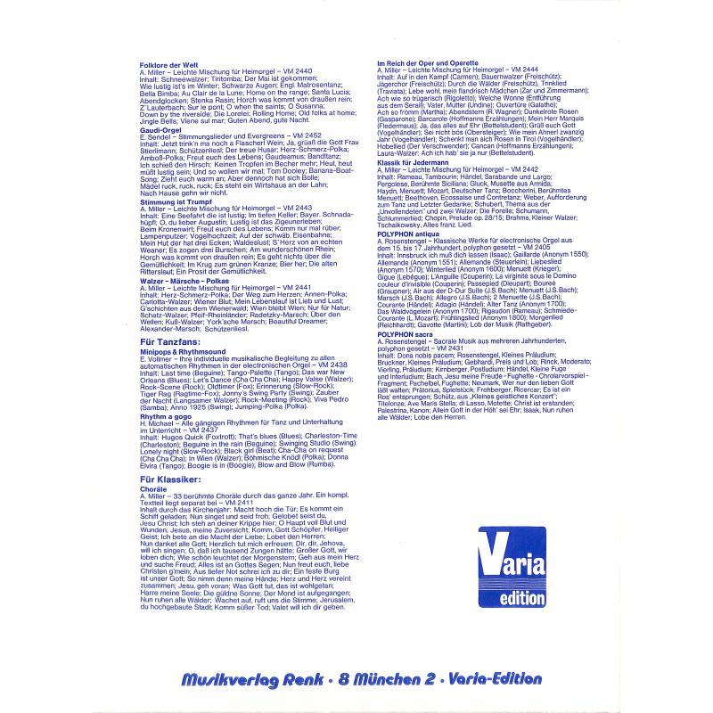 Notenbild für VM 2441 - WALZER MAERSCHE POLKAS - LEICHTE MISCHUNG