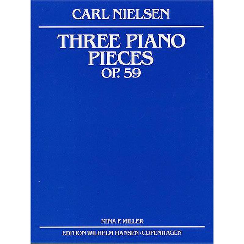 Titelbild für WH 29630 - 3 PIANO PIECES OP 59