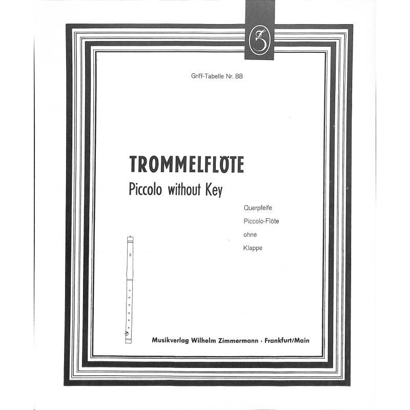 Titelbild für ZM 90088 - GRIFFTABELLE TROMMELFLOETE