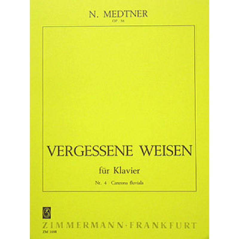 Titelbild für ZM 16980 - VERGESSENE WEISEN OP 38/4
