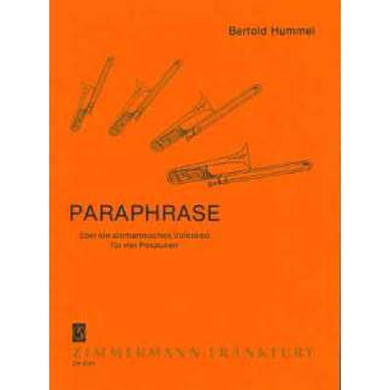 Titelbild für ZM 25250 - PARAPHRASE UEBER EIN ALEMANNISC