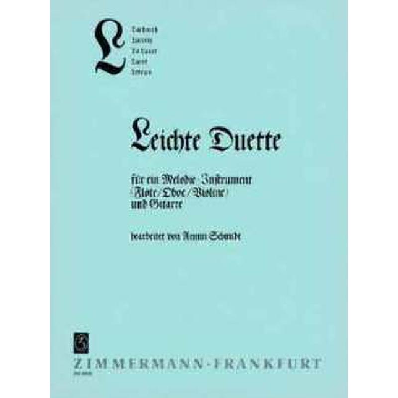 Titelbild für ZM 26360 - ABC REIHE : L - LEICHTE DUETTE