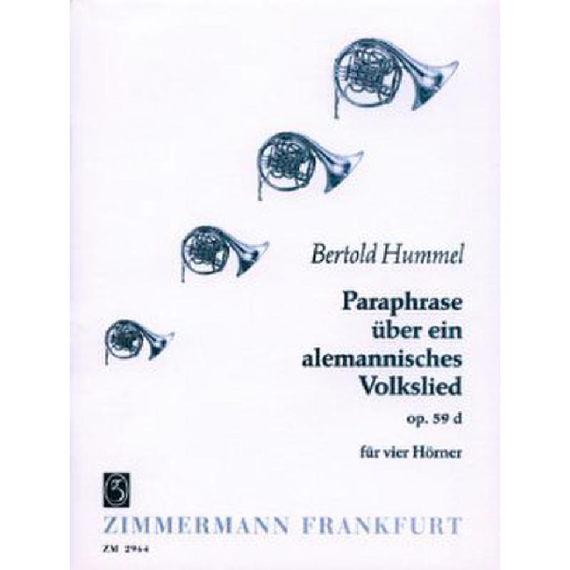 Titelbild für ZM 29640 - PARAPHRASE UEBER EIN ALEMANNISC