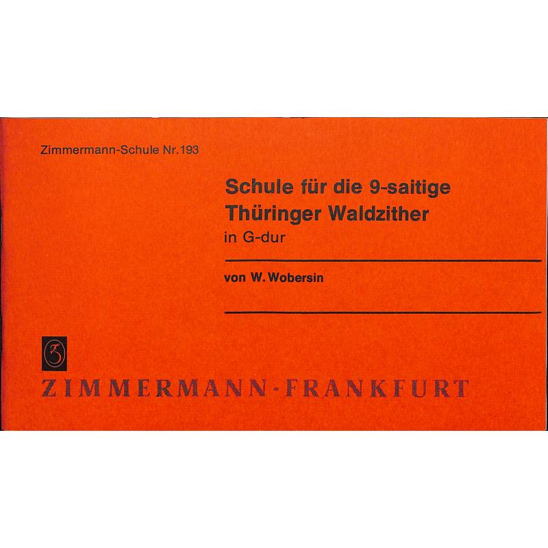 Titelbild für ZM 80193 - WALDZITHERSCHULE - THUERINGER WALDZITHER