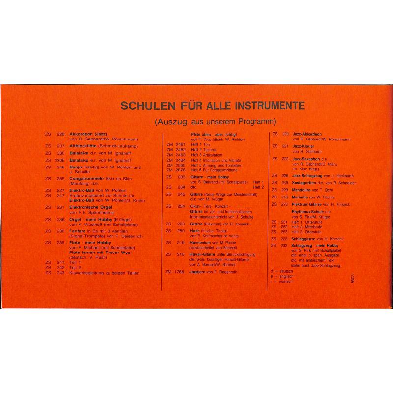 Notenbild für ZM 80193 - WALDZITHERSCHULE - THUERINGER WALDZITHER