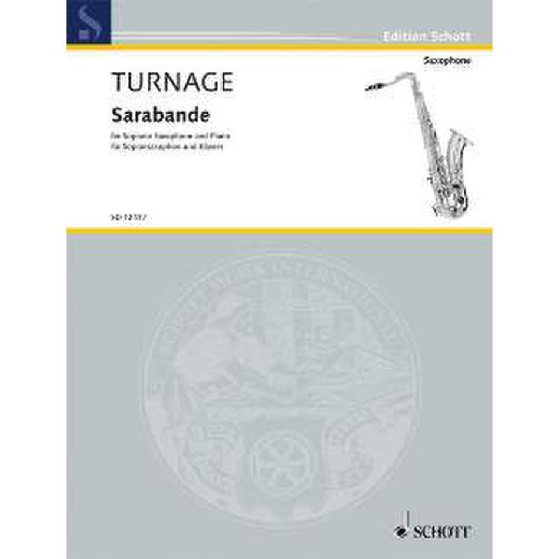 Titelbild für ED 12417 - SARABANDE