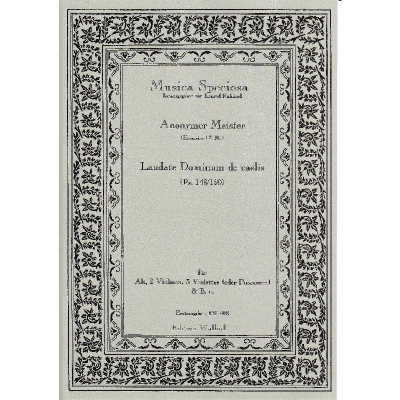 Titelbild für WALHALL 408 - LAUDATE DOMINUM DE CAELIS (PSALM 148/150)