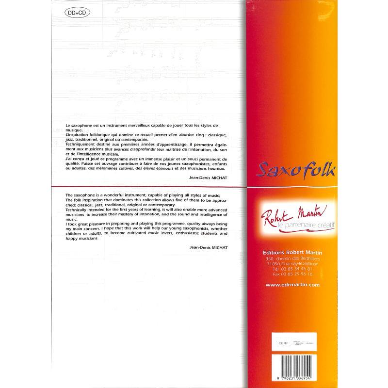 Notenbild für MARTIN 3695 - SAXOFOLK 1