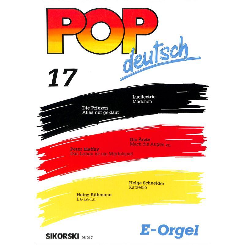 Produktinformationen zu POP DEUTSCH 17 SIK 98017