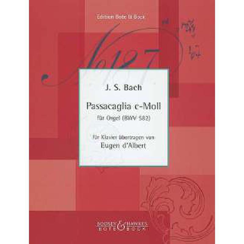 Titelbild für BOTE 0777 - PASSACAGLIA C-MOLL BWV 582