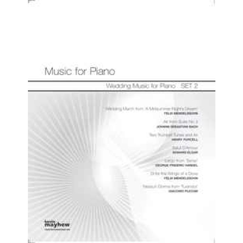 Titelbild für KM 3612066 - WEDDING MUSIC FOR PIANO - SET 2