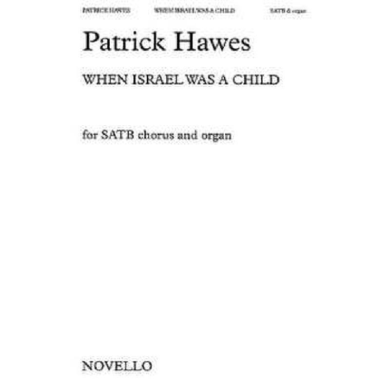 Titelbild für MSNOV 32318 - WHEN ISRAEL WAS A CHILD