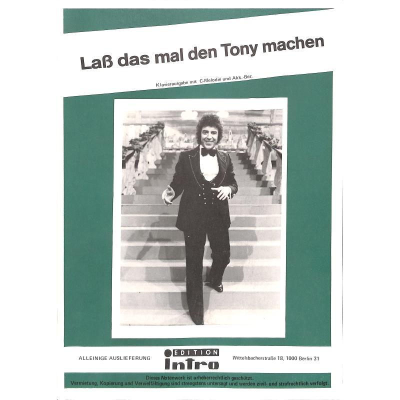 Titelbild für INTRO 298911 - LASS DAS MAL DEN TONY MACHEN