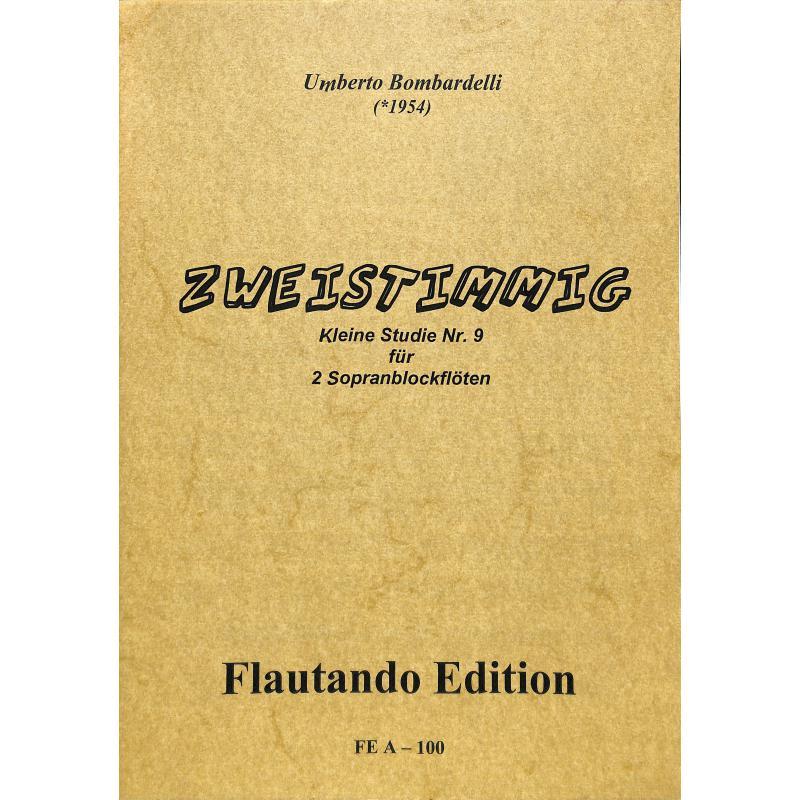 Titelbild für FE -A100 - ZWEISTIMMIG - KLEINE STDIE NR 9