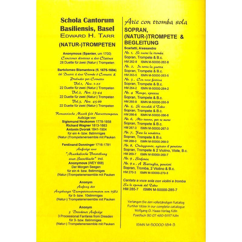 Notenbild für HAAS 184-3 - A SUITE OF TRUMPET VOLUNTARIES