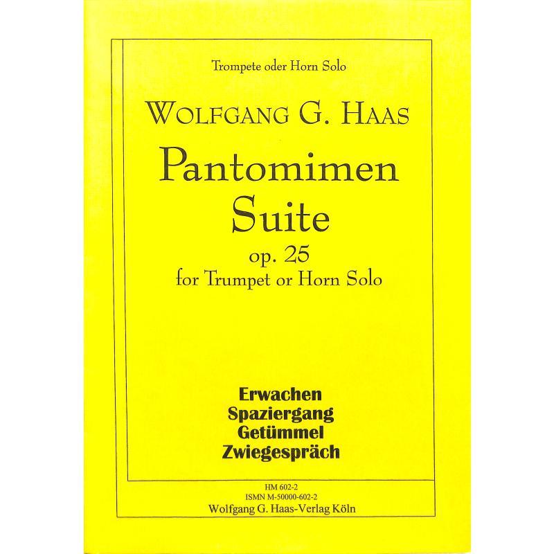 Titelbild für HAAS 602-2 - PANTOMIMEN SUITE OP 25