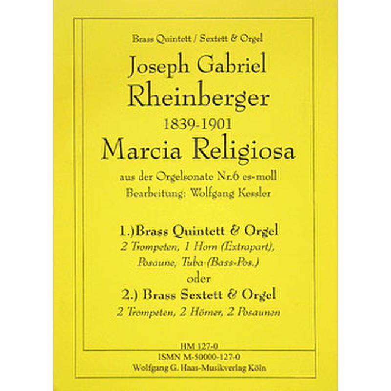 Titelbild für HAAS 127-0 - MARCIA RELIGIOSA (SONATE 6 ES-MOLL)