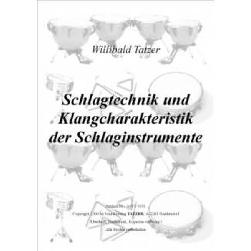 Titelbild für TATZER 0151 - SCHLAGTECHNIK UND KLANGCHARAKTERISTIK