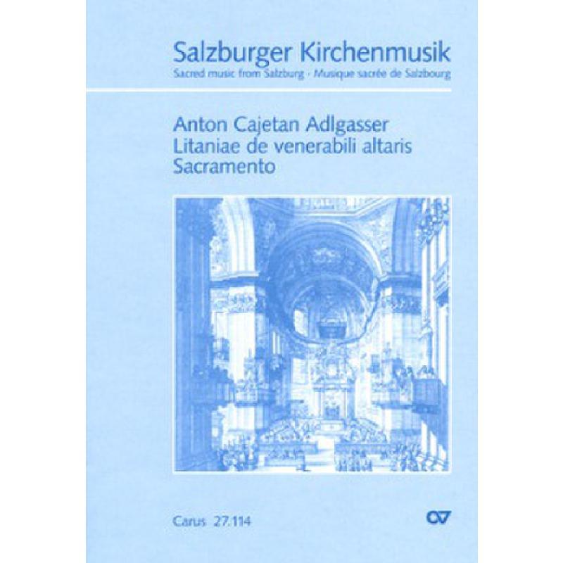 Titelbild für CARUS 27114-00 - Litaniae de venerabili altaris sacramento