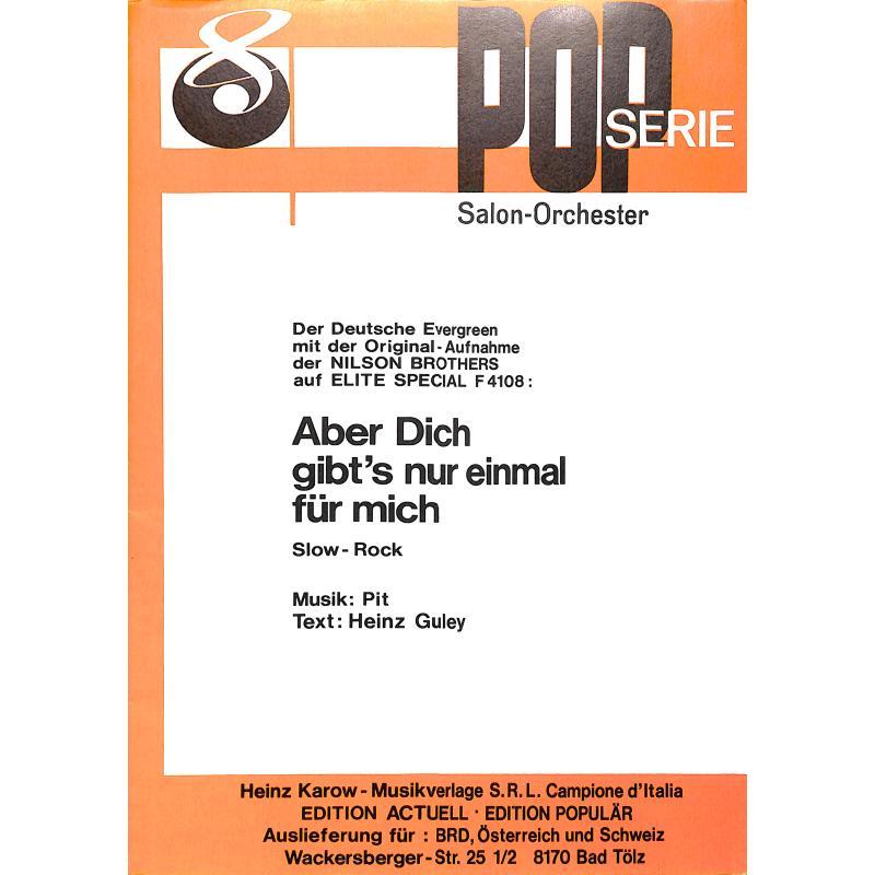 Titelbild für KAROW 1560 - ABER DICH GIBT'S NUR EINMAL FUER MICH