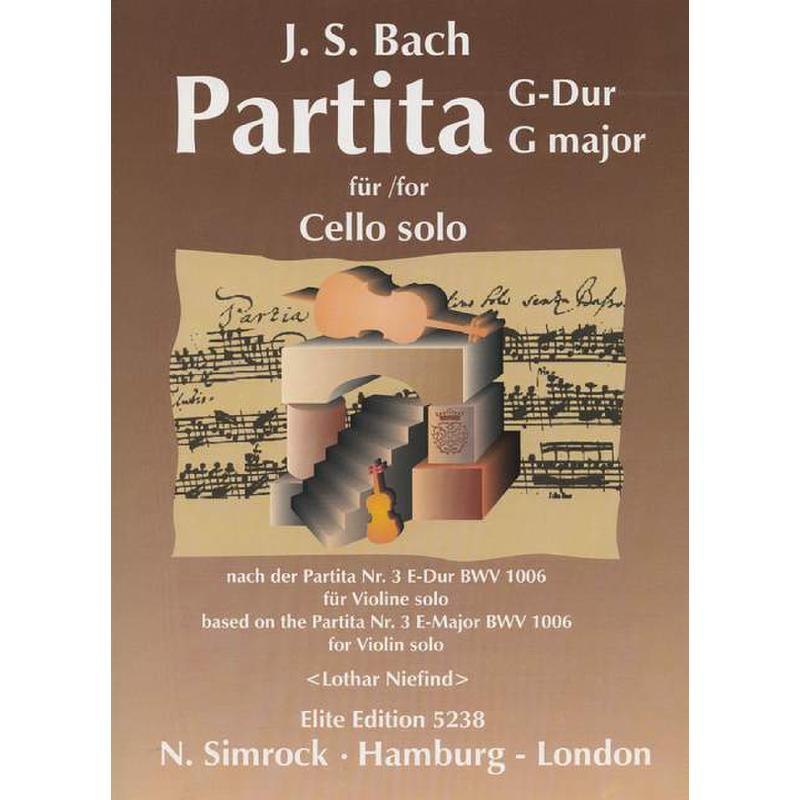 Titelbild für EE 5238 - PARTITA G-DUR (NACH BWV 1006 E-DUR)