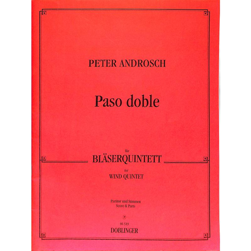 Titelbild für DO 06519 - PASO DOBLE