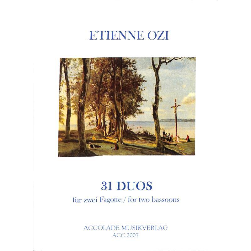 Titelbild für ACCOLADE 2007 - 31 DUOS (NOVELLE METHODE DE BASSON)