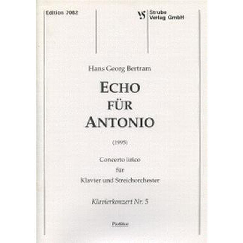 Titelbild für VS 7082 - ECHO FUER ANTONIO