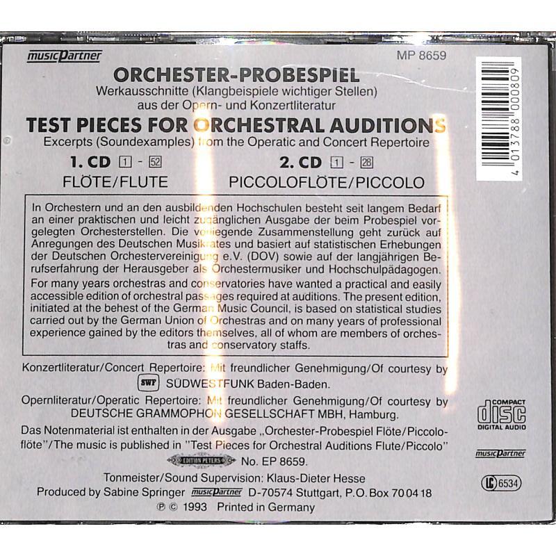 Notenbild für EPMP 8659 - ORCHESTER PROBESPIEL FL