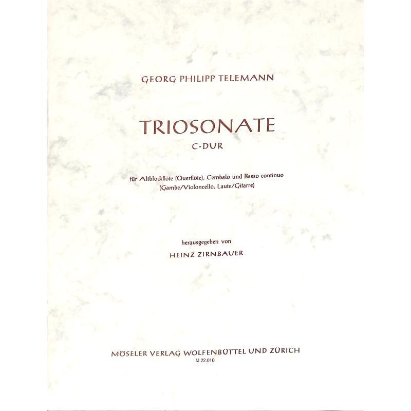 Titelbild für M 22010 - TRIOSONATE C-DUR